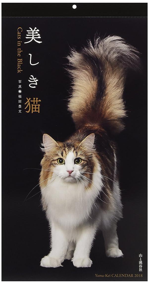 の配列一部アルファベット順カレンダー2018 美しき猫 Cats in the Black (ヤマケイカレンダー2018)