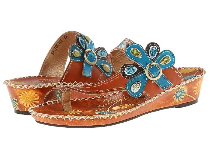 70s Shoes, Platforms, Boots, Heels LArtiste by Spring Step Santorini Camel Womens Sandals $89.95 AT vintagedancer.com