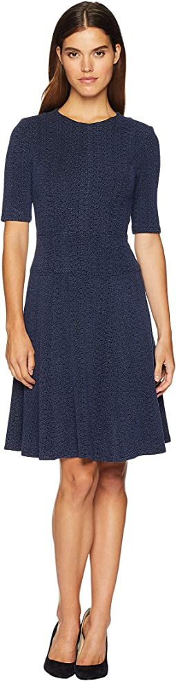 Suspect Knit Fit and Flare Dress
