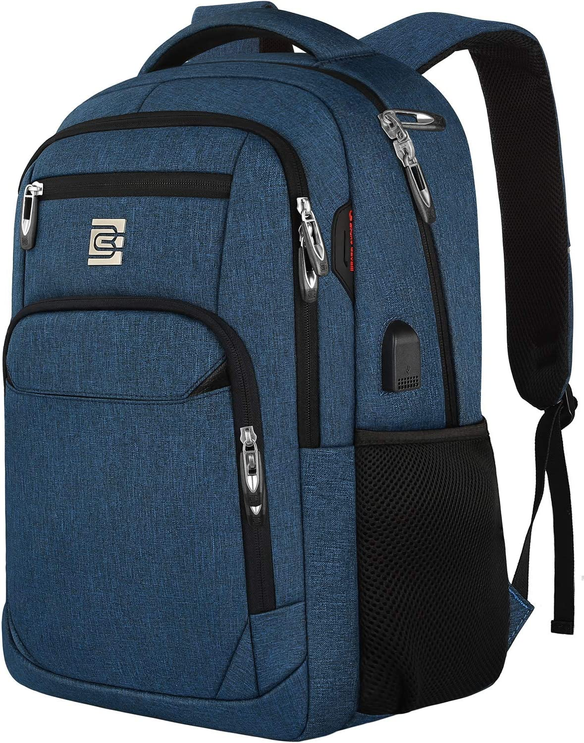 Laptop Backpack,Business Travel Anti Theft Slim Durable Laptops Backpack with USB Charging Port,Water Resistant College School Computer Bag for Women & Men Fits 15.6 Inch Laptop and Notebook - Blue
