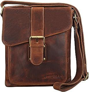"""STILORD Mattia"""" kleine Umhängetasche Herren Leder Vintage iPad Hülle 10,1 Zoll Tablettasche Schultertasche Messenger Bag Rindsleder Antik"""