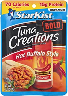 StarKist Tuna Creations BOLD Hot Buffalo Style - 2.6 oz Pouch (Pack of 12)