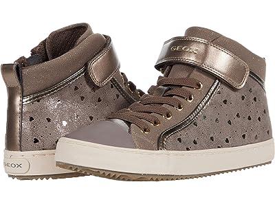 Geox Kids Jr Kalispera 18 (Big Kid) (Dark Beige) Girls Shoes