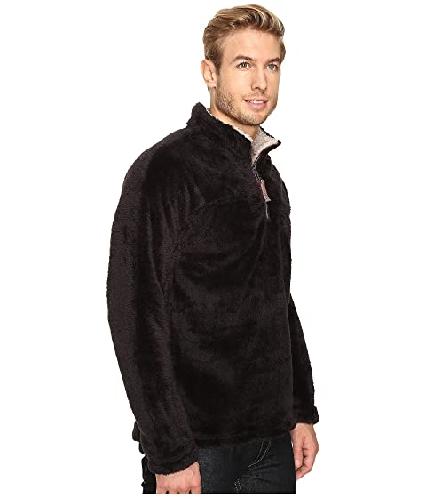 True Grit Double Plush 1/4 Zip Pullover Black New 7SUhGBQ