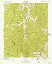YellowMaps Mt Mitchell NC topo map, 1:24000 Scale, 7.5 X 7.5 Minute, Historical, 1946, Updated 1957, 26.8 x 21.8 in