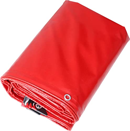DONGYUER Tissu antipluie Couteau Punch Raclage Mariage Rouge Marry Shed Toile Toile étanche Crème Solaire Bache,rouge,6  8m