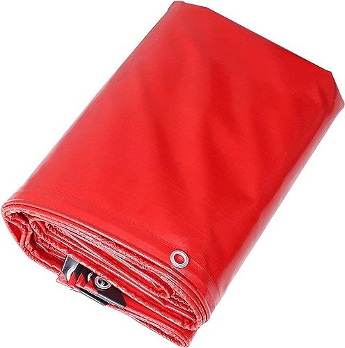 DONGYUER Tissu antipluie Couteau Punch Raclage Mariage Rouge Marry Shed Toile Toile étanche Crème Solaire Bache,rouge,5  6m