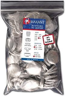 100 Buttons to Cover - Made in USA - Self Cover Buttons with flat backs - size 60 with Tool