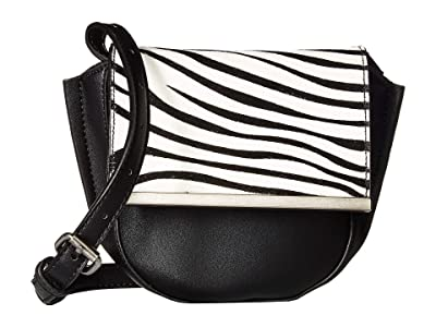 Sam Edelman Jasmine Convertible Belt Bag (Black/Zebra) Handbags