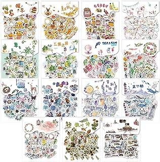 600pcs Autocollants Décoratifs Transparents, Stickers Scrapbooking, Autocollant Vintage Ensemble D'autocollants de Scrapbo...