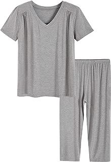Women's Bamboo Viscose Top Capris Pajamas Set