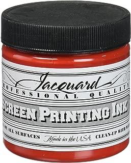 Jacquard JAC-JSI1105 Screen Printing Ink, 4 oz, Bright Red