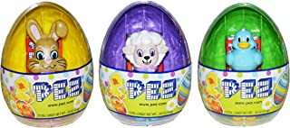 Pez Mini Dispensers Easter Eggs with 2 Individually Wrapped Pez Rolls (Pack of 3)