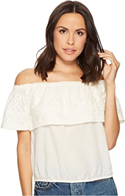 Lucky Brand - Embroidered Off Shoulder Top