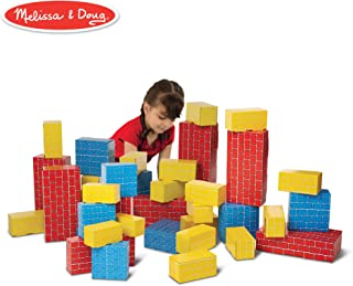 Melissa & Doug Deluxe Jumbo Cardboard Blocks, 40 Pieces (E-Commerce Packaging, Great Gift for Girls and Boys - Best for 2,...
