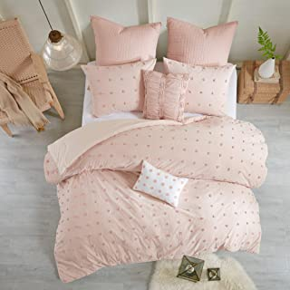 Urban Habitat Brooklyn Cotton Jacquard Comforter Set Pink Full/Queen
