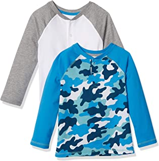 Amazon Essentials 2-Pack Boys Long-Sleeve Henley Shirt