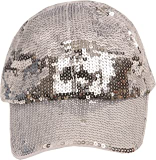 Women's Fashion Sequined Sparkle Baseball Cap Hat
