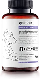 animaux - Daily Balance for Dogs | Natural Calming Aid and Stress Relief | Lavender, St. John's Wort, Valerian, Hops, Passionfruit Flower | 40 Chewable Tablets