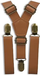 """LJA Brown Groomsmen Suspenders Rustic Wedding Outfits 35""""-67"""