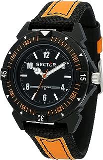 Men's Expander 90 Analog-Quartz Leather Strap, Black, 18 Casual Watch (Model: R3251197057)