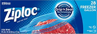 Ziploc Freezer Bags with New Grip 'n Seal Technology, Gallon, 28 Count