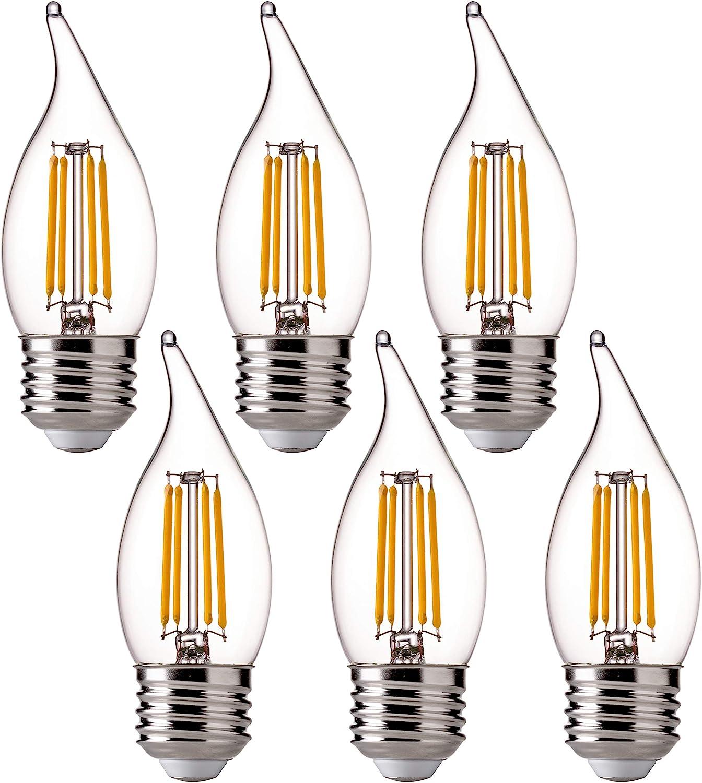 FLSNT LED 60 Watts New popularity Equivalent Light Bulbs 4.5 CA11 Cheap SALE Start Dimmab