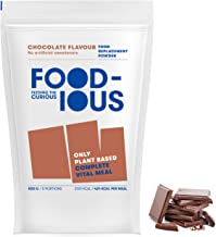 FOODIOUS Chocolate Protein Powder-100 Vegan-Ideal as Meal Replacement or Diet Shake-Only 5g of Sugars per Meal-Breakfast Powder 1kg 10 Complete Meals-Premium Ingredients-Astronaut Food Estimated Price : £ 25,80