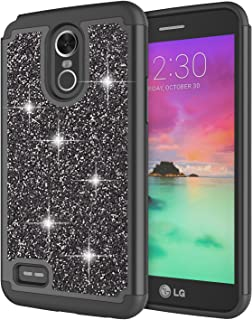 LG Stylo 3 Case, LG Stylo 3 Plus Case for Girls, Jeylly Glitter Luxury Crystal Dual Layer Shockproof Hard PC Soft TPU Inner Protector Case Cover for LG Stylo 3/Stylo 3 Plus 2017 - Black