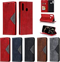 Snow Color Leather Wallet Case for Galaxy A20S with Stand Feature Shockproof Flip Card Holder Case Cover for Samsung Galaxy A20S – COYKB040086 Red Estimated Price : £ 7,44
