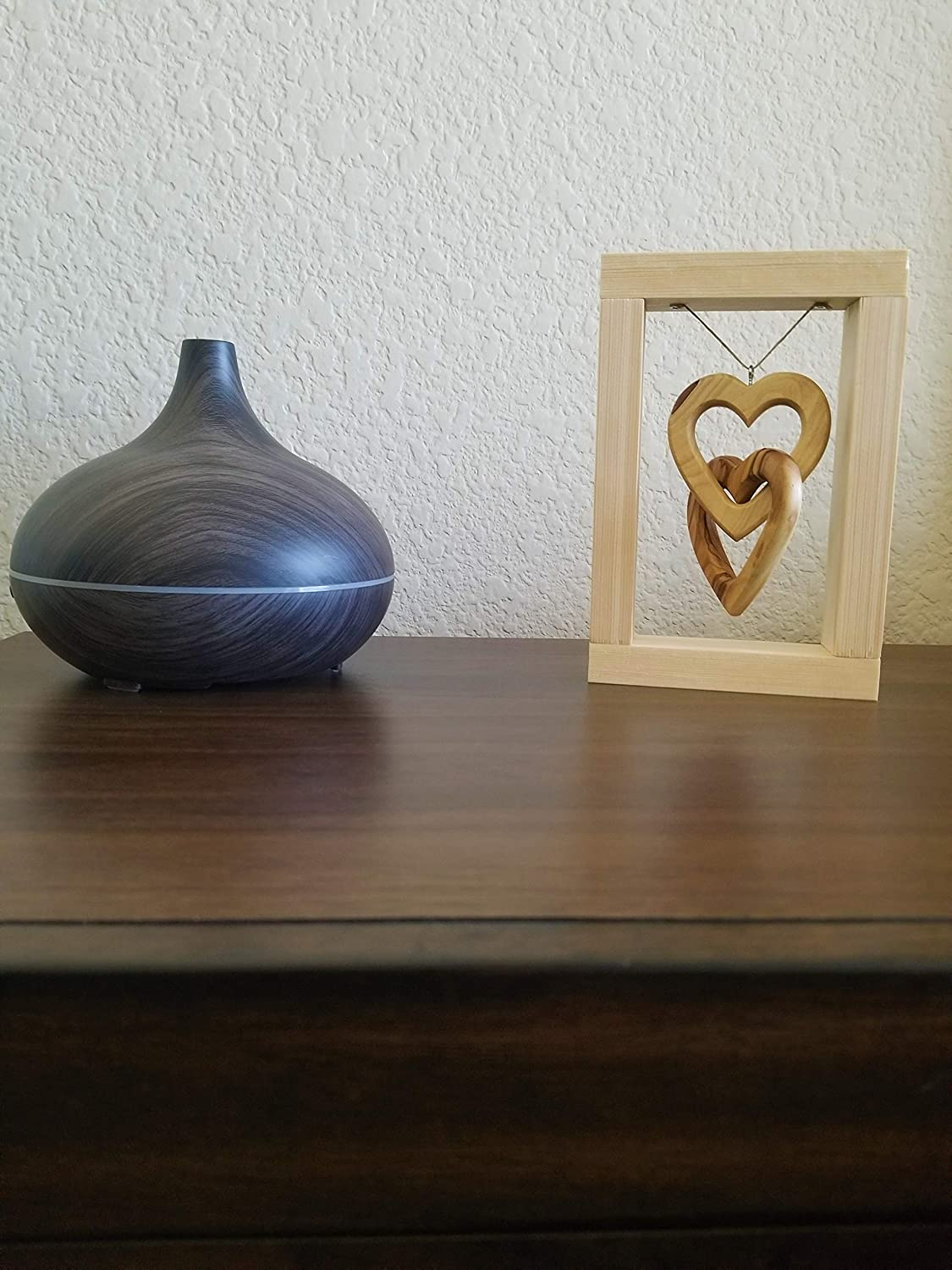 3D Wood Heart Frame a nice decoration for the Home or Office and a great gift on many occasions like the Valentines Day Olive wood Heart from Bethlehem and Yellow wood frame from Finland 3D Heart