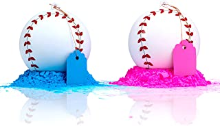 Gender Reveal Baseball 2 Pack | Pink and Blue Set | Exploding Powder Baseball | Gender Reveal Party Ideas | Ultimate Party Supplies