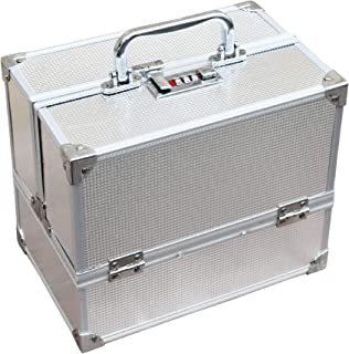 Pride Star Metal Vanity case (Silver_3 tray lite silver)