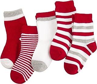 Camilife, 5 Par Recién Nacido Bebés Infante Niños Niñas Calcetines de Algodón Set Suave y Dulce