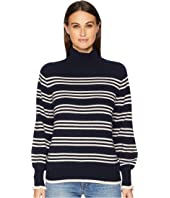 Rebecca Taylor - Striped Turtleneck Pullover