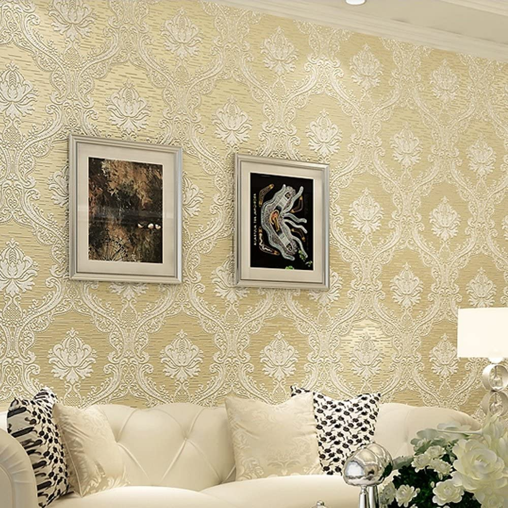 Ranking TOP19 Yifely Popular product Easy Install Light Beige Retro Embossed Non Damask Wov 3D