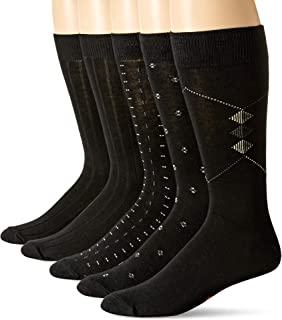 Dockers Men's Classics Dress Dobby Crew Socks