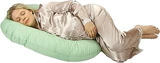 Leachco Snoogle Mini Pregnancy/Maternity Compact Side Sleeper, Sage/White dot