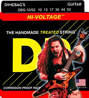 DR Strings Electric Guitar Strings, Dimebag Darrell Signature, Treated Nickel-Plated, 10