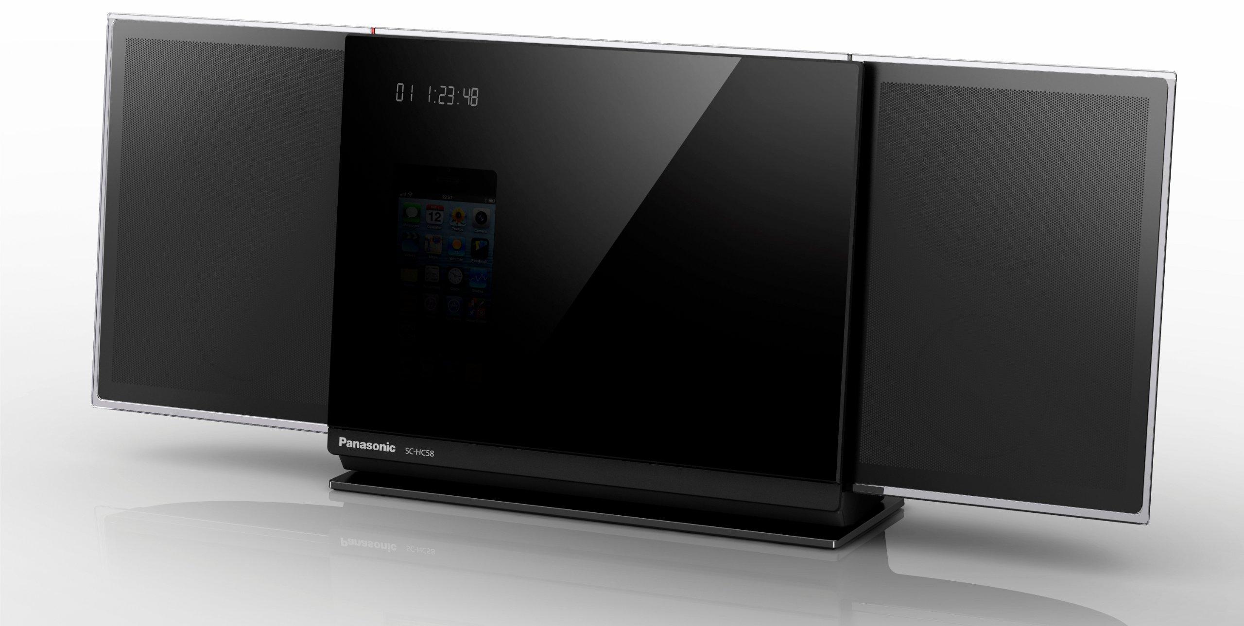 Panasonic SC-HC58EG-K - Microcadena, reproduce CD, 40 W para iPhone 5: Panasonic: Amazon.es: Electrónica