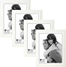 Malden International Designs Linear Picture Frame, 8x10, White, 4 Pack