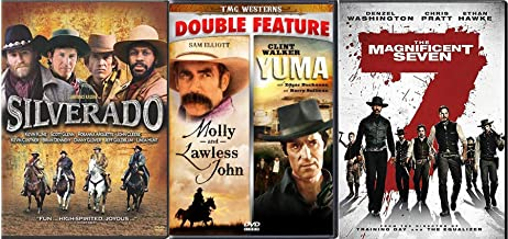 Grit the Spirited West Yuma & Molly Lawless John + 2016 Magnificent Seven Denzel Washington & Silverado DVD Western Rides, Horses & Guns Pack