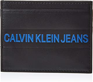 CALVIN KLEIN LOGO STRIPE CARD CASE  for MEN-BLACK