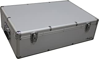 MegaDisc 1000 Cd DVD Silver Aluminum Hard Case for Media Storage Holder w/Hanger Sleeves