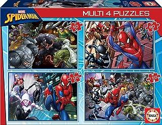 Educa MultiPuzzles Marvel Spiderman. 4 Puzzles Progressifs Enfant 50/80/100/150 pièces. +5 Ans. Ref. 18102, varié