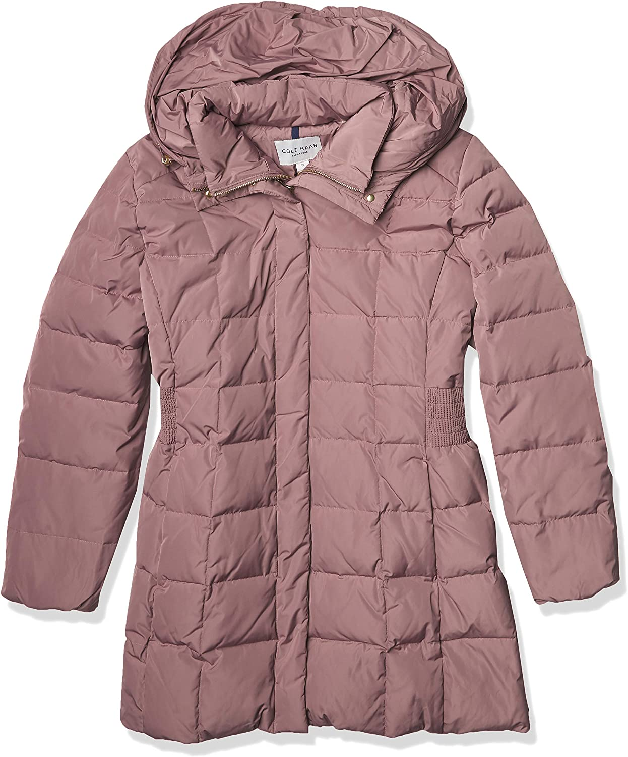 Cole Haan Women's Virginia Beach Direct store Mall Taffeta Down Coat Front and Bib Dramatic With