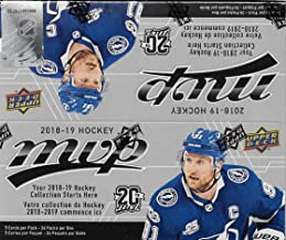 2018 2019 Upper Deck MVP NHL Hockey Series Unopened Retail Box of 36 Packs with Chance for Stars, 1 Draft Picks, Rookie Cards, Silver Scripts plus