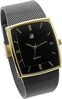Men's Casual Quartz Stainless Steel Mesh Band Watch - 8357