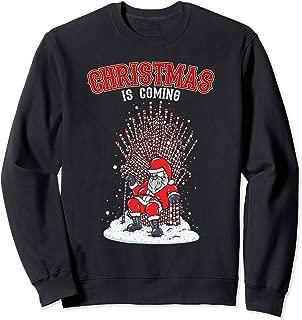 Funny Santa Candy Cane Throne Christmas Design Sweatshirt