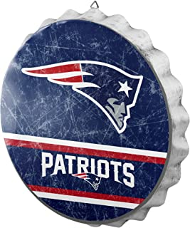 FOCO Metal Distressed Bottlecap Wall Sign – Limited Edition Sign – Represent The NFL and Show Your Team Spirit with Officially Licensed Fan Gear
